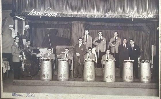 Walter Cabral con la orquesta de Alfredo Gobbi